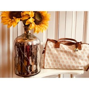 Dooney & Bourke Bag! Large with Tan Leather Trim!